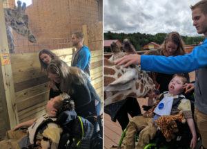 April the Giraffe Meets Troubled Boy