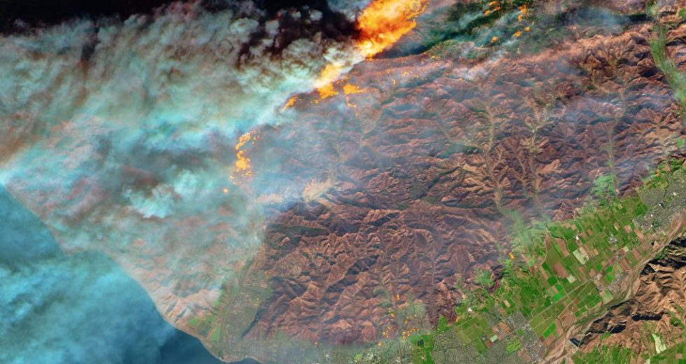 NASA Shares A Shocking Image Of The California Wildfires From Space