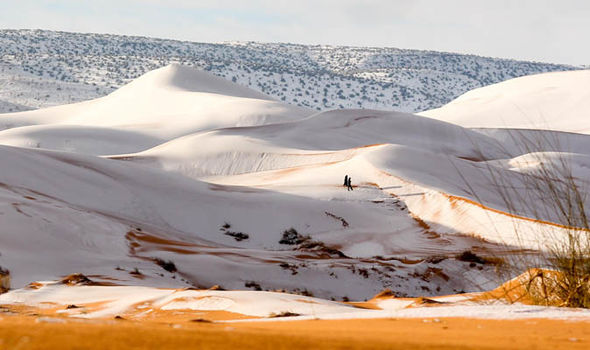 Sahara desert sees snowfall for the third time in 40 years