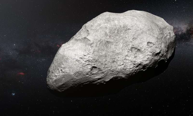 Lone asteroid expelled from early Solar System
