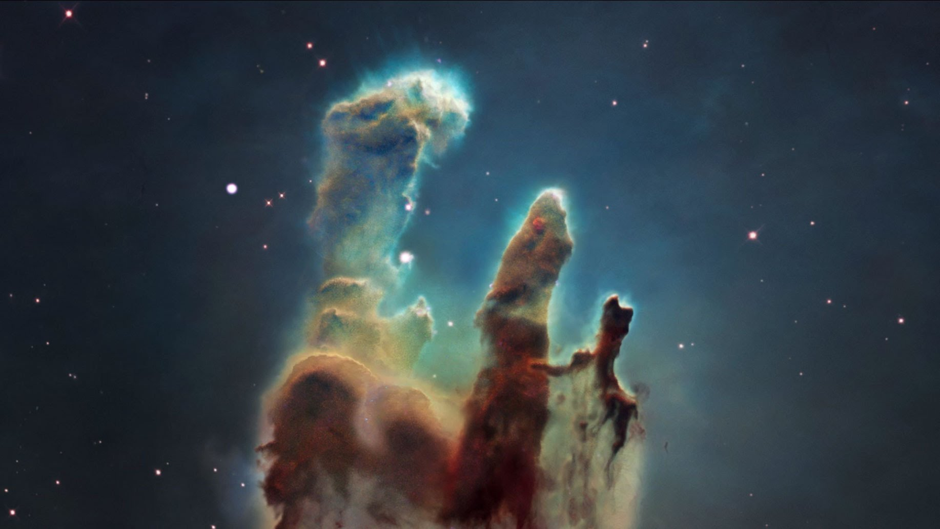 """Magnetic Fields Discovered In The """"Pillars Of Creation ..."""