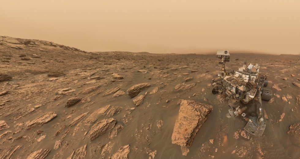 NASA's Curiosity Rover Took A Break From Work To Take A Selfie During The Dust Storm On Mars
