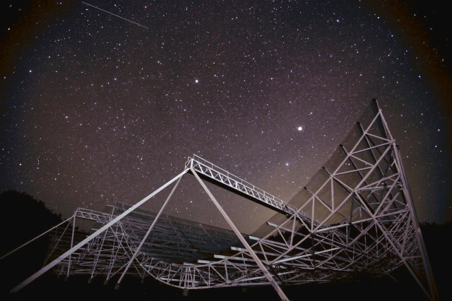 Heavy duty telescope recorded an unusual signal from space
