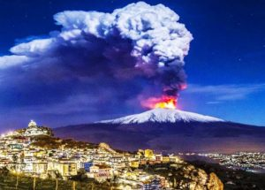 Video of Children Playing Sports While a Volcano Erupts in the Background Goes Viral