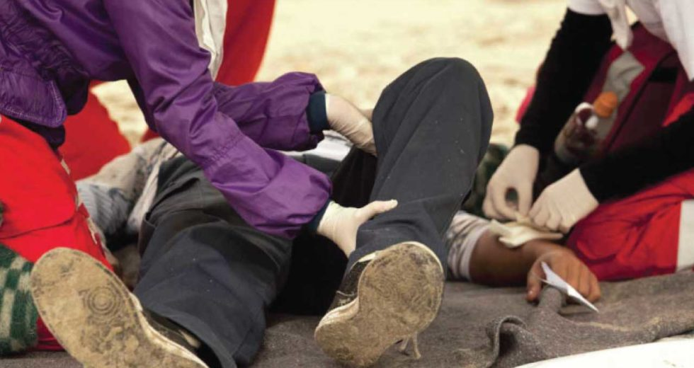 Here's five first aid tips to remember when dealing with a bloody accident